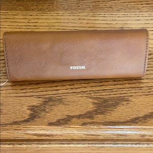 Fossil Brown leather glass case
